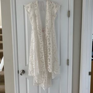 Ivory lace coverup